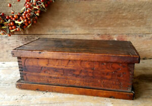 Antique Country Store Dovetailed Primitive Advertising Box Magic Yeast Owl Moon
