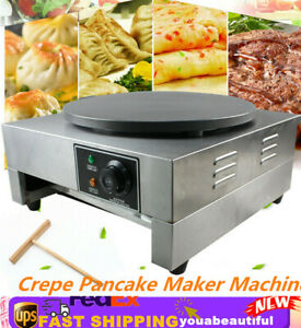 Commercial Nonstick Electric Crepe Maker Pizza Pancake Making Machine 16 3000w