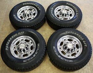 Chevy 16 Polished Wheels Milestar At 285 75r16 Tires 2000 2010 2500 3500 Truck