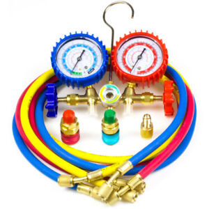 A c Diagnostic Manifold Gauge Set Charging Refrigeration Hvac R12 R22 R134a R502