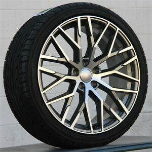 New Set 4 22x9 5 5x130 Rs Type Wheels Tires Pkg Audi Q7 S Vw Touareg Cayenne