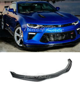 For 16 up Camaro Ss Abs Plastic Front Bumper Lip W Cf Side Splitters T6 Style