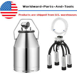 Electric Milker Bucket Portable Stainless 25l Milking Machine For Sheep Goat