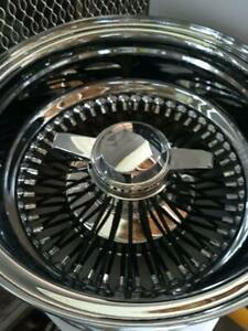 4 13x7 Rev 72 Straights Black Spokes Fit Impala Caprice Cutles