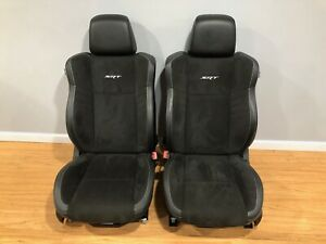 2017 Dodge Charger Hellcat Front Rear Seats W Door Panels Black Leather