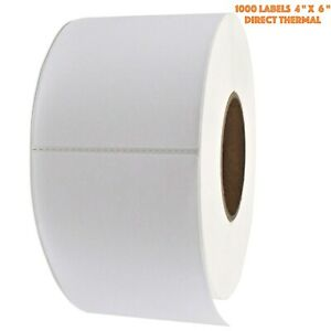 4 X 6 1000 roll 3 Core thermal Printing Labels For Zebra Brand Printer