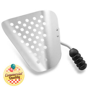 Aluminum Commercial Popcorn Maker Speed Scoop W Holes For Filling Bags Boxes