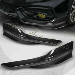 For 2014 2015 Honda Civic Coupe Hfp style Carbon Look Front Bumper Spoiler Lip