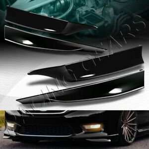 Hfp Style Painted Black Front Rear Bumper Spoiler Lip Fit 13 15 Honda Accord 4dr