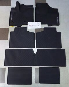 Toyota Sienna 2013 2019 Factory All Weather Rubber Floor Liners Genuine Oem Oe