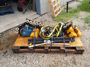Harrington Dual 3 Phase Electric Overhead 1 2 Ton Hoist With Power Trolley