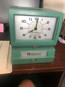 Acroprint 150nr4 Electric Print Time Recorder Card Punch stamp no Key
