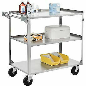 Stainless Steel Utility Cart 39 1 4 X 22 3 8 X 37 1 4 500 Lb Cap 1 Each