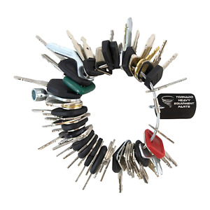 Construction Equipment Master Keys Set ignition Key Ring For Heavy Machines 56