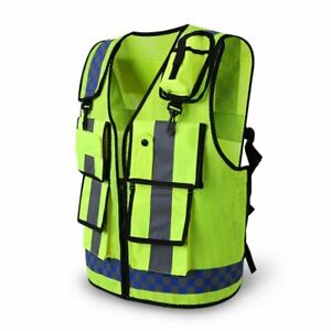 Reflective Safety Vest Gears For Utility Safety Traffic Industrial Work Clothing