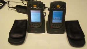 two Symbol Ppt2846 Pocket Pc Barcode Scanner powers Up