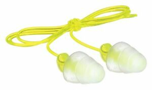 3m Flanged Ear Plugs 26db Noise Reduction Rating Nrr Corded M Yellow