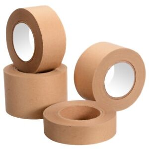 30 M Gummed Kraft Paper Tape Adhesive Sealed Water Activated Carton Sticker Tool