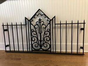 Victorian Garden Antique Wrought Iron 54 Architectural Fence Full Headboard