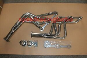 New 1964 89 Chevy Long Tube Headers Polished Sbc Impala Bel Air Camaro