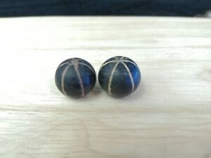 2 Authentic Ancient Roman Empire Glass Beads Artifacts Antiquities Old Bible Afg