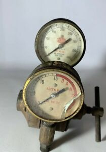 Airco Oxygen Acetylene Welding Regulator Valves Gauges Gages Steampunk