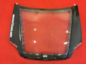Kevtec Hybrid Hood carbon Fiber Clear Plain Design Civic Ek 96 97 98
