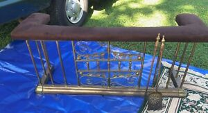 Vintage Brass Club Fireplace Fender Bench Ready To Use