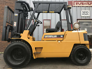 2000 Cat Gp40 8000lb Dual Tire Pneumatic Forklift Lifttruck Lease For 317