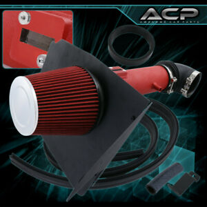 Air Intake Induction Heat Shield Red Piping For 12 13 14 15 Camaro V6 3 6l