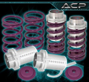 For 93 97 Corolla Adjustable Lowering Spring Coilover Sleeve Aluminum Kit Purple