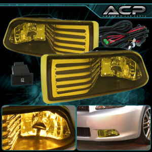 For 05 10 Scion Tc Jdm Yellow Lens Front Bumper Driving Fog Lights Lamps wiring