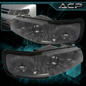 For 95 96 97 98 99 Nissan Maxima Smoke Lens Chrome Housing Headlights R34 Style