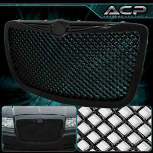 Black Mesh Grille For 04 05 06 07 08 09 10 Chrysler 300 300c Grill Replacement