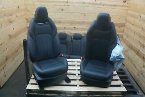 Set 7 Front Rear Left Right Seat Black Red Sitch Nerissimo Maserati Ghibli 2014