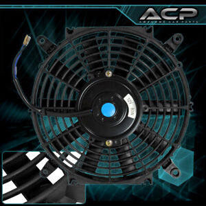 16 1730 Cfm Universal Slim Fan Black Push Pull Electric Radiator Cooling Fan