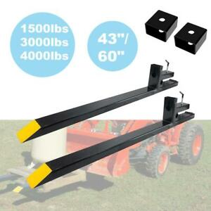 1500 3000 4000lb Tractor Pallet Forks Bucket Clamp On 43 60 Skid Steer Loader