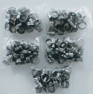 100 Pc Stainless Steel Hose Clamps 4 7 32 To 5 8