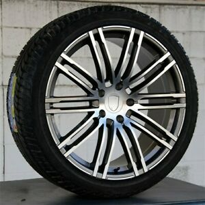 Set 4 New 21x10 5x130 Wheels Tires Package Fit Porsche Cayenne Sport Editon