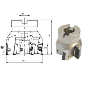 90 Degree Indexable Face Mill Cutter Use Apmt Apkt Cnc Machining 2 1 2 X 3 4