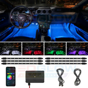 Ledglow Bluetooth 6pc Million Color Led Interior Light Kit W Smartphone Control