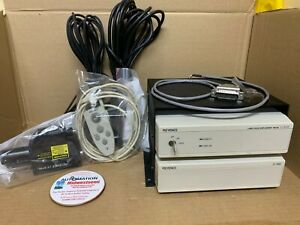 Keyence Lt 8110 Lt v201 Lt 8105 Laser Confocal Displacement System Tested