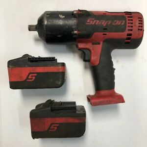 Snap On Ct8850 18v 1 2 Drive Li ion Impact Wrench W Two 4ah Batteries Usa