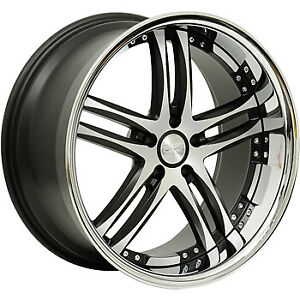 4 22x9 Machined Black Wheel Concept One Rs 55 5x115 18