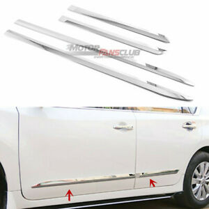 4pcs For Nissan Altima 2013 2018 Chrome Door Body Side Mouldings Protector Cover