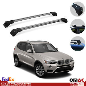 Roof Rack Cross Bars Luggage Carrier Silver Set For Bmw X3 2010 2017