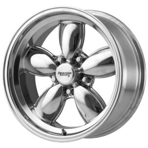 4 american Racing Vn504 17x7 5x5 0mm Polished Wheels Rims 17 Inch