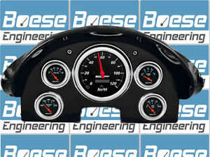 1956 Ford Fairlane Gauge Adapter Rings Kit W Auto Meter Designer Black Gauges