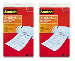 Scotch Thermal Laminating Pouches 8 9 X 14 4 inches Legal Size 20 Per Pack
