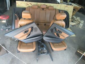 Bmw F30 Heated Brown Leather Seat Panel Console Set Seats Oem 335i 328i